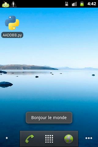 Script PYTHON sous emulateur Android.
