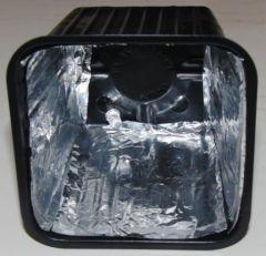Intérieur d'un pot pour éclairage mono-couleur.